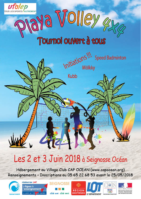 affiche playa volley
